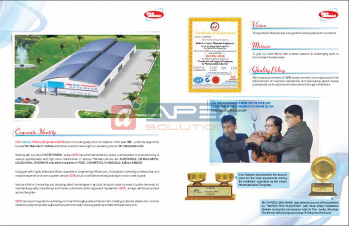 IGPE Catalog - Inside cover pages
