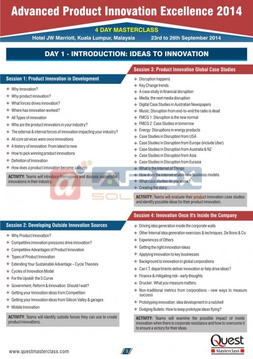 Masterclass Corporate Brochure