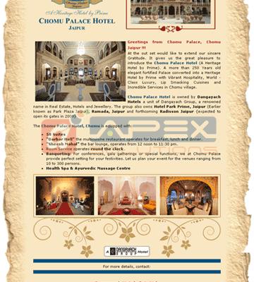 Emailer - Chomu Palace