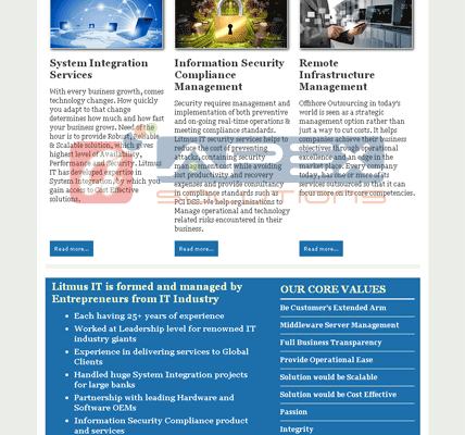 E-mailer for a IT Consulting Firm