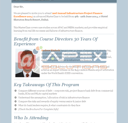 E-mailer for a Training Program