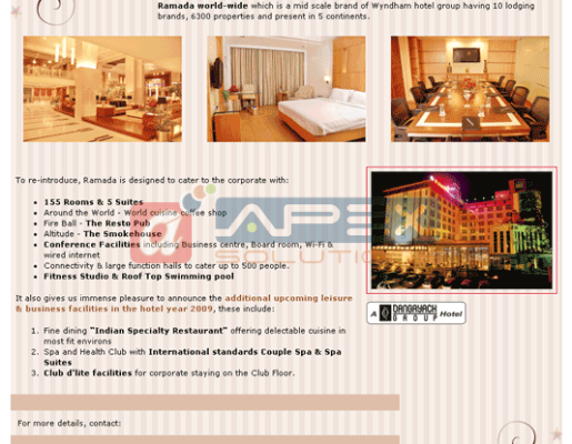 E-mailer for Ramada Inn